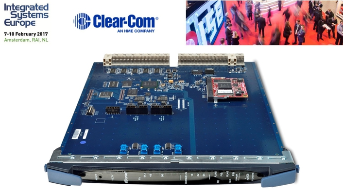 CLEAR-COM LAUNCHES DANTE INTERCOM CARD  AT ISE 2017