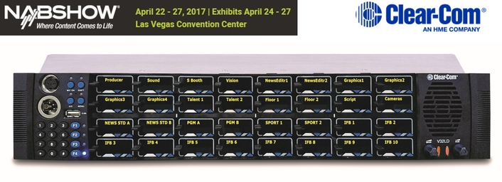 CLEAR-COM RELEASES NEW V-SERIES LEVER OPERATOR PANEL AT NAB