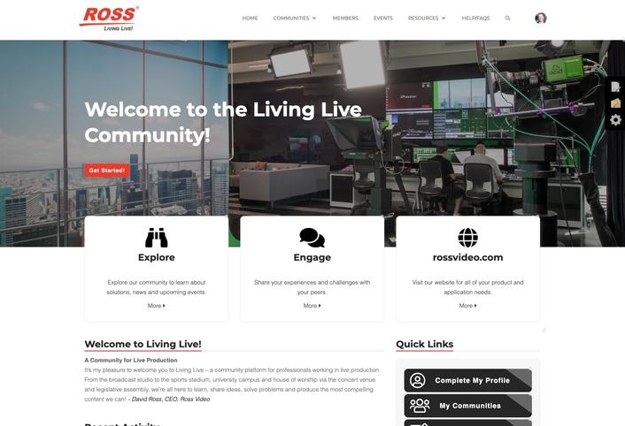 Ross Launches Living Live Community Platform for Live Production