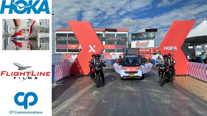 CP Communications Support HOKA Product Launch with Live Racing Event Production