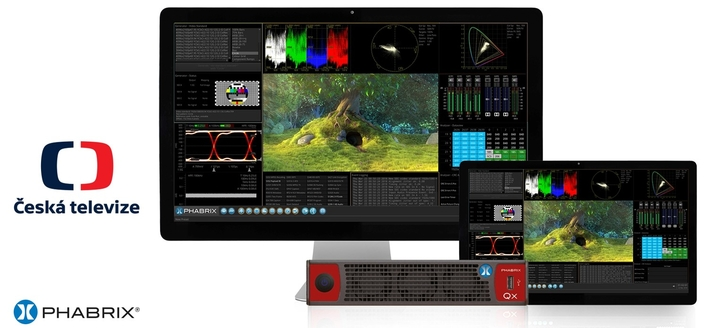 Czech TV selects PHABRIX's Qx 12G Rasterizer as a central solution in its 4K/UHD test and measurement lab
