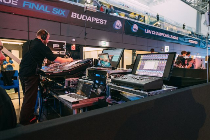 DiGiCo SD10 provides failsafe control for  Hungarian FINA World Championships