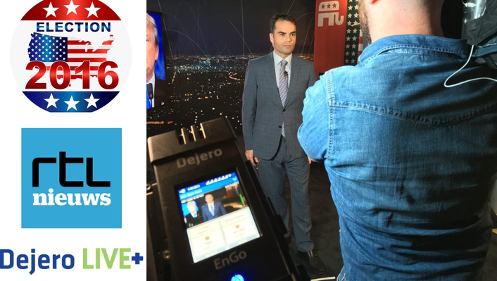 RTL Nieuws to Rely on Dejero's LIVE+ EnGo Mobile Transmitter for Live US Election Results Show