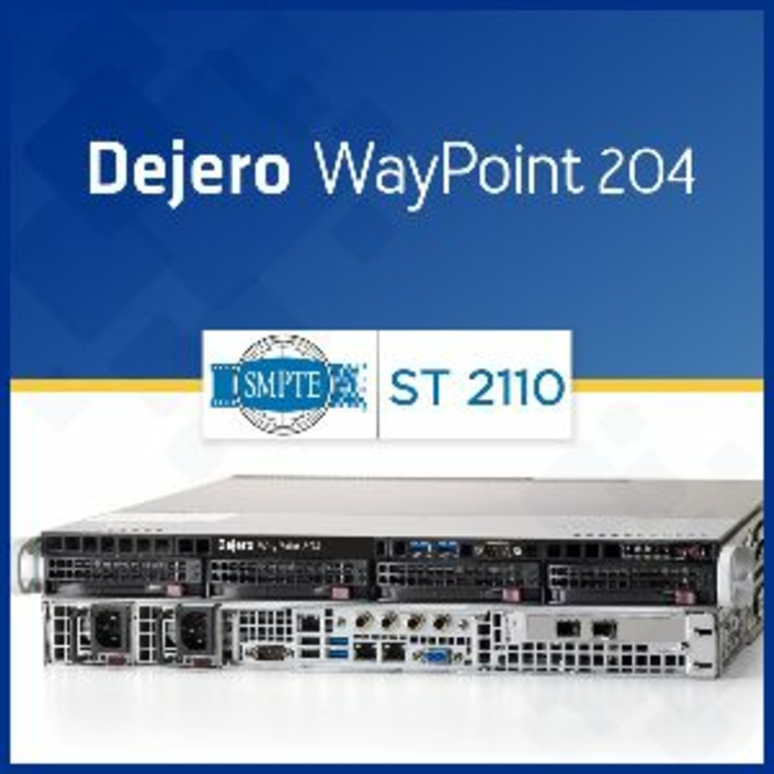 Dejero Announces Support for SMPTE ST 2110