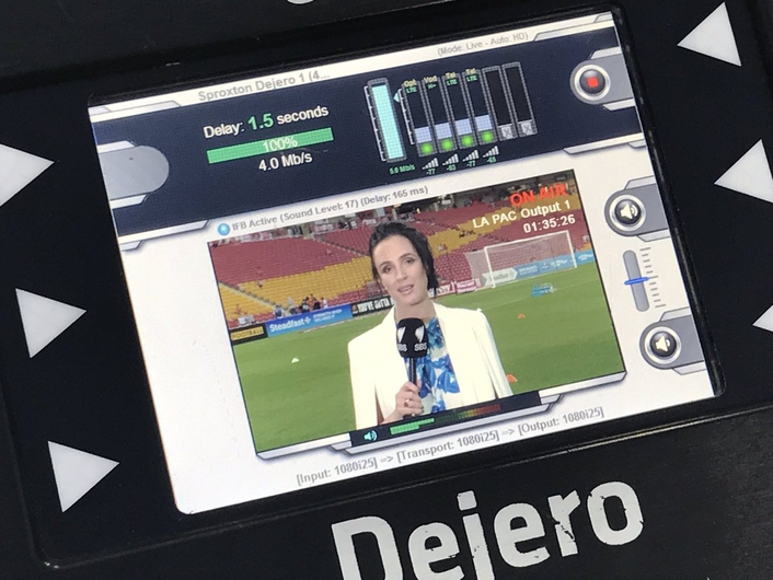 Freelance Australian cameraman, Rick Sproxton, uses LIVE+ EnGo and GoBox mobile transmitters for live content delivery to clients including Network Ten and SBS