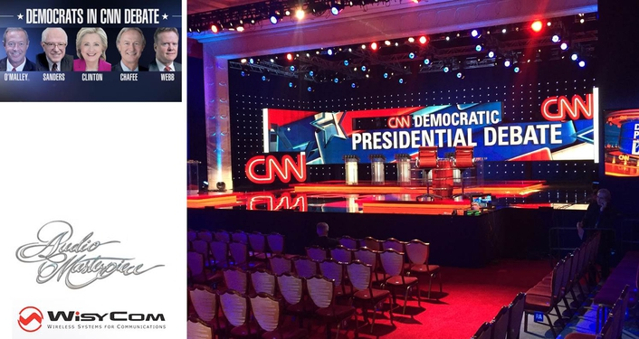 Wisycom's CUSTOM RF SOLUTION DECLARED BIG WINNER  FOR CNN COVERAGE OF DEMOCRATIC DEBATE