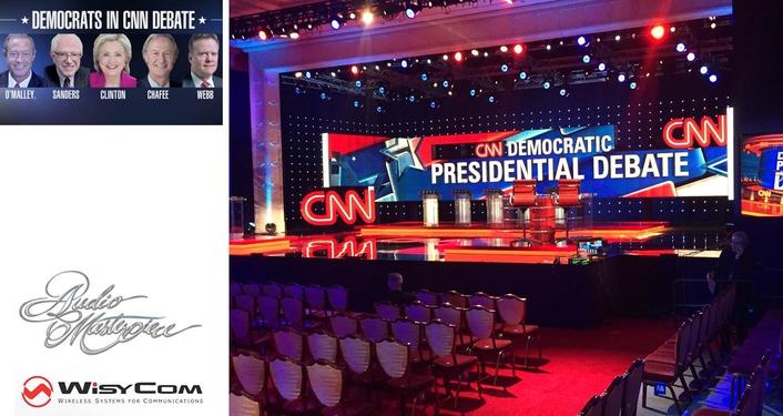 Wisycom's CUSTOM RF SOLUTION DECLARED BIG WINNER  FOR CNN COVERAGE OF DEMOCRATIC DEBATE