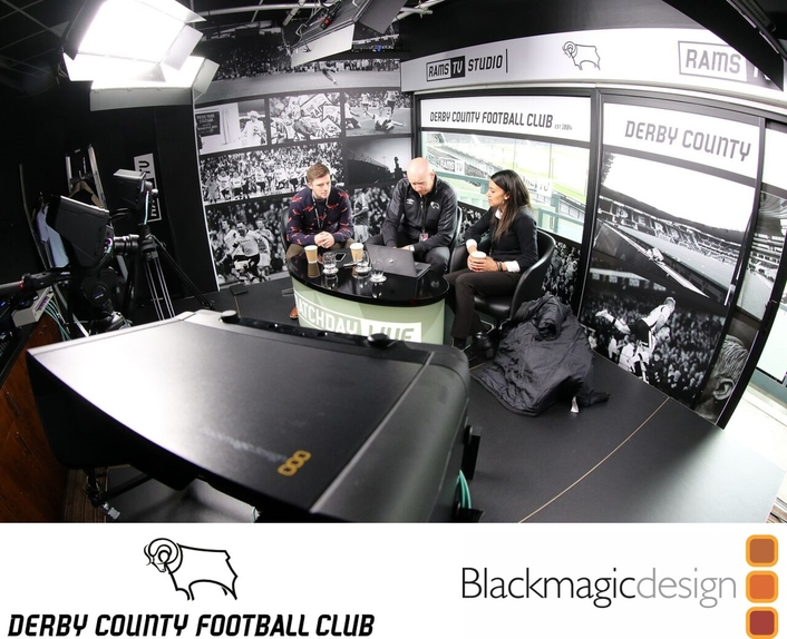 Derby County Football Club Implements a Blackmagic Design Broadcast Solution