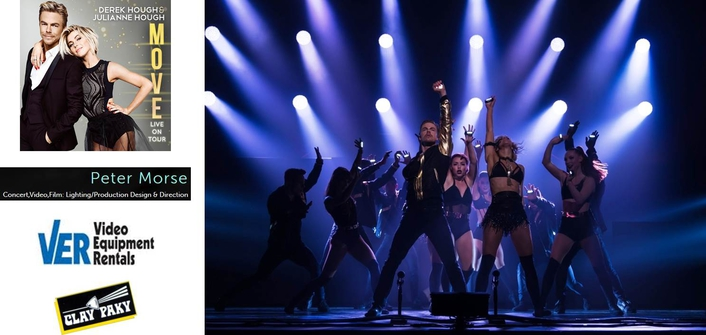 """Clay Paky Fixtures Hit the Road with Derek and Julianne Hough's """"Move Live on Tour"""""""