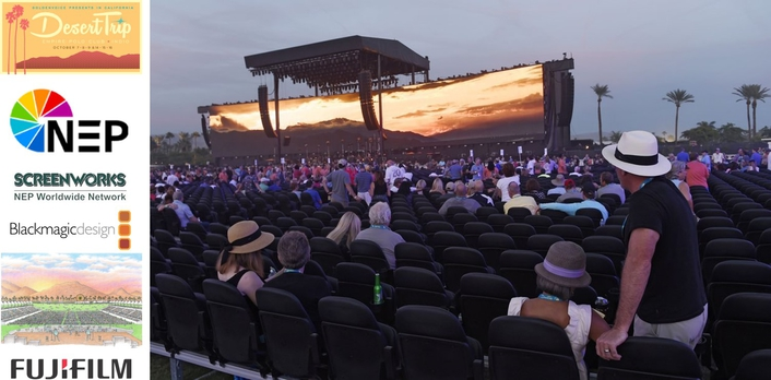 NEP Captures iconic desert trip music festival with several fujinon 4k uhd lenses