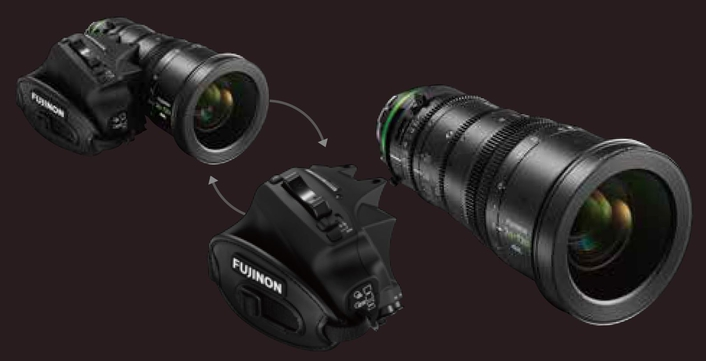"New 4K-compatible high zoom ratio cine lens ""FUJINON XK6x20""  covers from wide angle 20mm to telephoto 120mm  maintaining T3.5*1 brightness in the entire zoom range"
