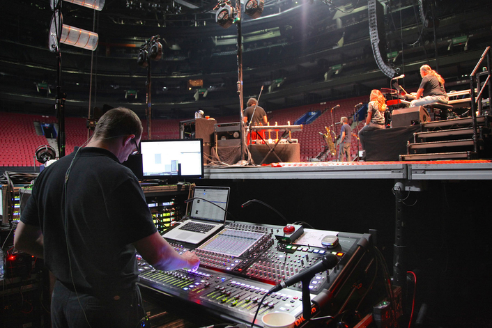 "Hailed as one of the most in-demand touring entities currently on the road, ""Aussie Floyd"" has been out for over 120 shows this year alone with DiGiCo's hard-working but easy-to-use SD Series consoles at both front of house and monitors"