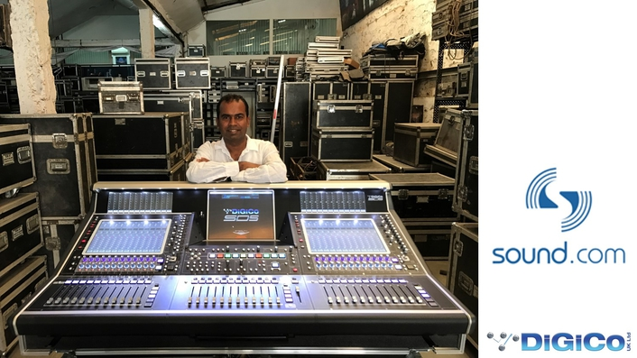 SOUND.COM invests in DiGiCo SD5 digital mixing console