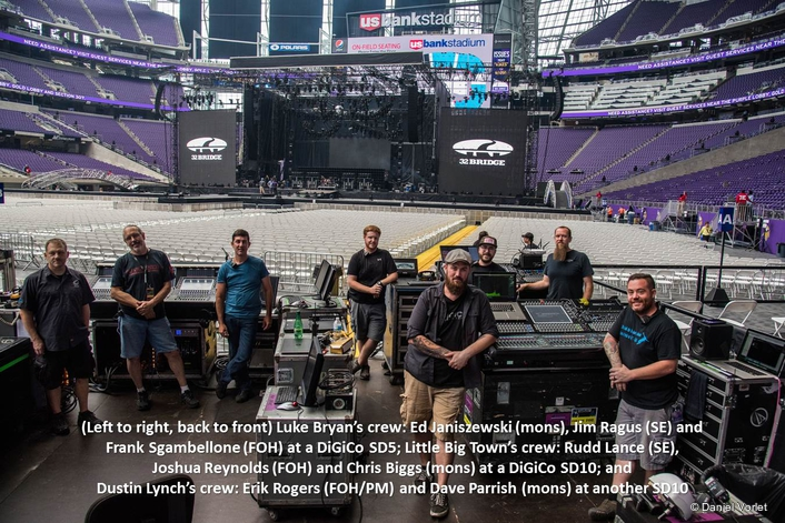 Taking It To The Bank — DiGiCo SD Consoles Touring with Luke Bryan, Little Big Town and Dustin Lynch Mix the Debut Live Music Event at U.S. Bank Stadium, the New Home of the NFL Minnesota Vikings