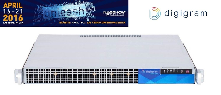 Digigram to Show Industry's First OB Van-Compatible UHD 4K Hardware Video Encoder for Live Contribution at 2016 NAB Show
