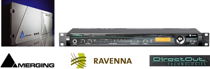 DirectOut and Merging announce interoperability of 256 channels via RAVENNA