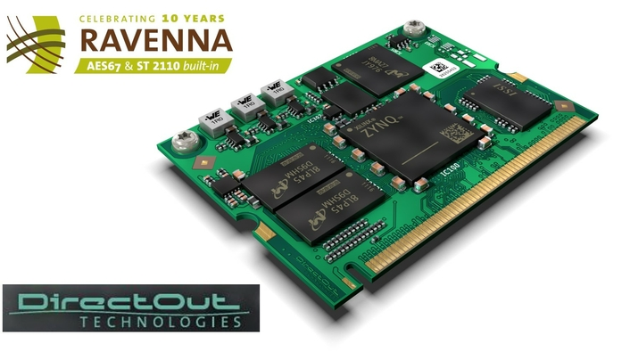 DirectOut releases RAV2 high performance OEM RAVENNA network audio module