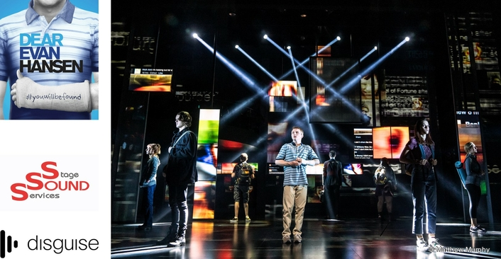 'Dear Evan Hansen' Opens in London with disguise vx 4 Powering Scenic Video Projections