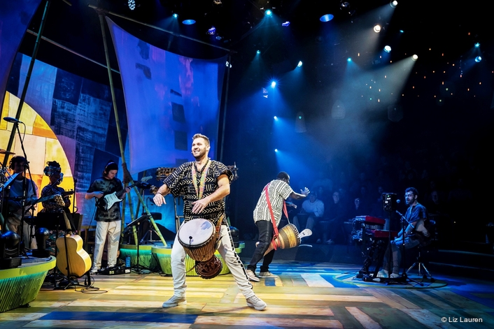 Djembe! The Show makes U.S. debut beneath all Elation lighting rig