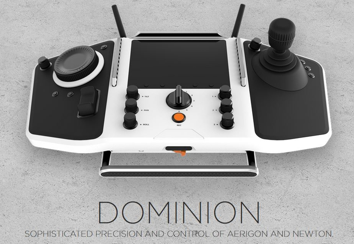 DOMINION, the most sophisticated multi-function gimbal &camera controller