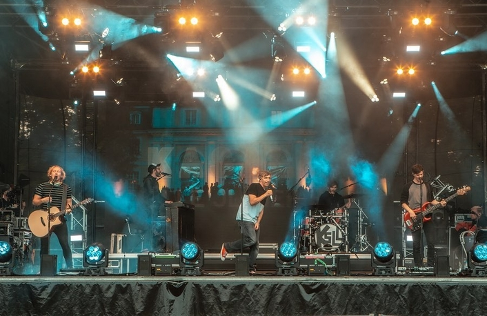 Elation and ADJ light German Drive-In Concert Series