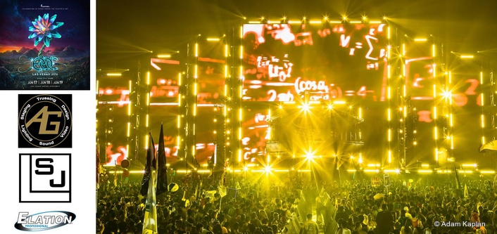 Nearly 850 Elation LED Lights for Newly Designed EDC Vegas Circuit Grounds Stage