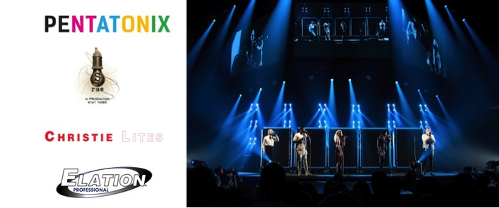 Elation ACL 360i™ in Harmony with Pentatonix on 2016 World Tour