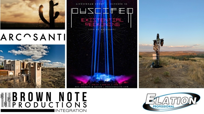Elation IP-rated lights for Puscifer performance in Arizona desert