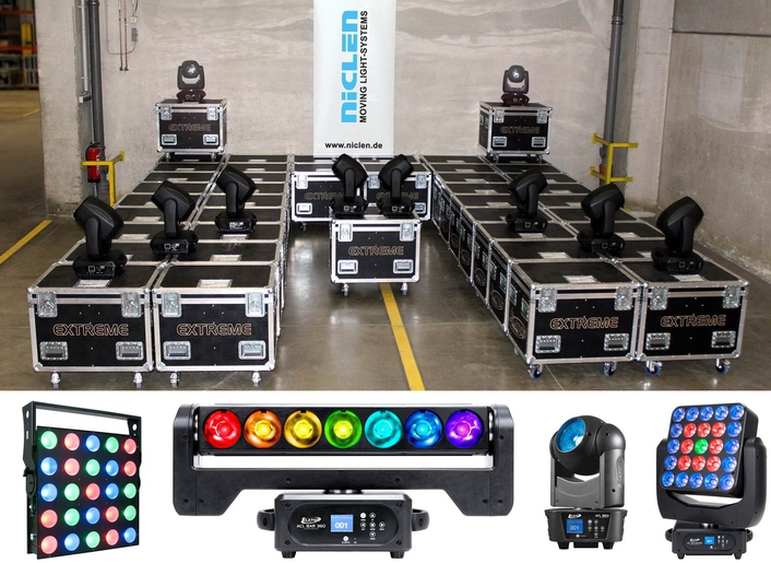 Niclen Widens Product Offering with Investment in Elation ACL Series™ LED Effect Lights and Cuepix Panels™