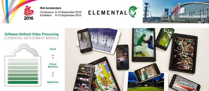 Elemental to Showcase Software-Defined Video Solutions at IBC 2016