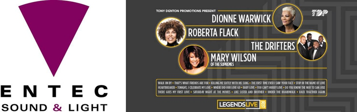 'Legends Live' UK arena tour which played three of the country's major venues – Wembley, Birmingham NIA and Manchester