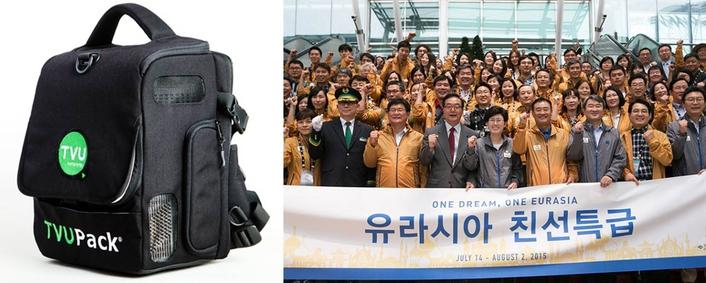Global Rental Program Provides TVUPacks to South Korea's Leading 24-Hour News Network for Eurasia Friendship Express Railway Project