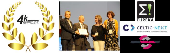 The 4KREPROSYS* consortium led by AMP VISUAL TV won a prestigious European Distinction