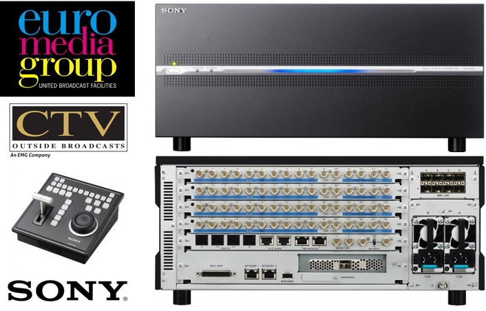 Euro Media Group selects Sony's PWS-4500 Server Solution  for high end cultural and sports events across Europe