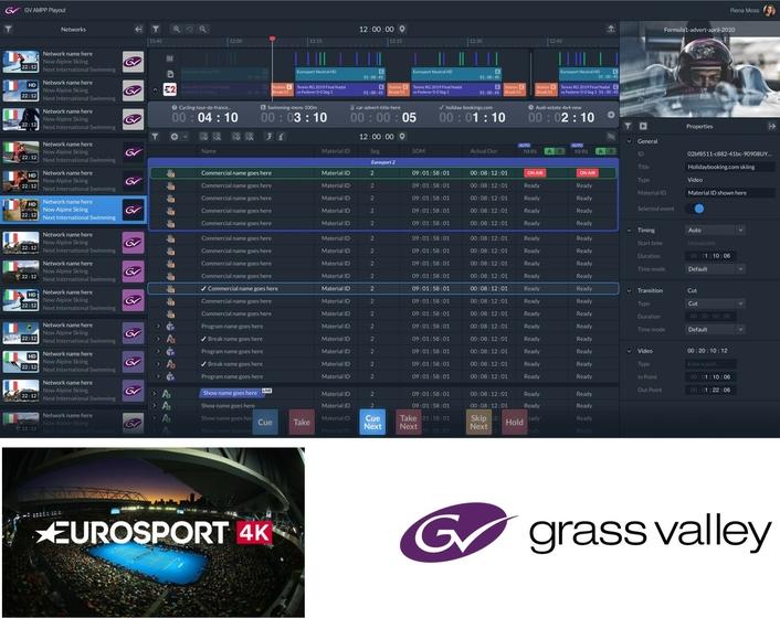 Partnership between Grass Valley and Eurosport