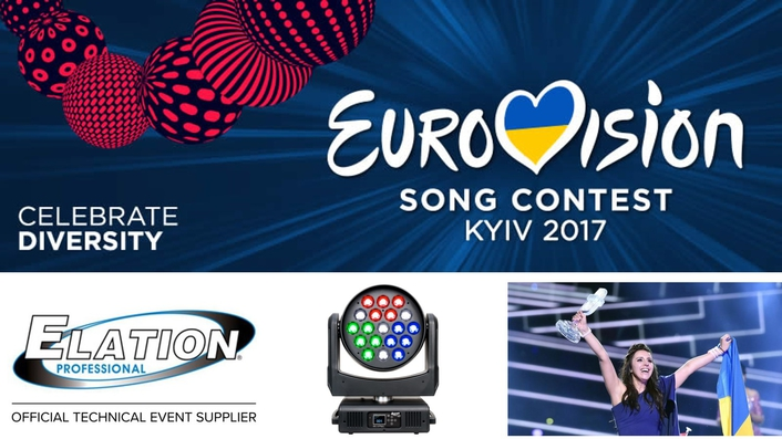 Elation Lighting Fixtures to Feature on 2017 Eurovision Song Contest