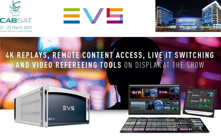 EVS showcasing the latest in live at Cabsat2017