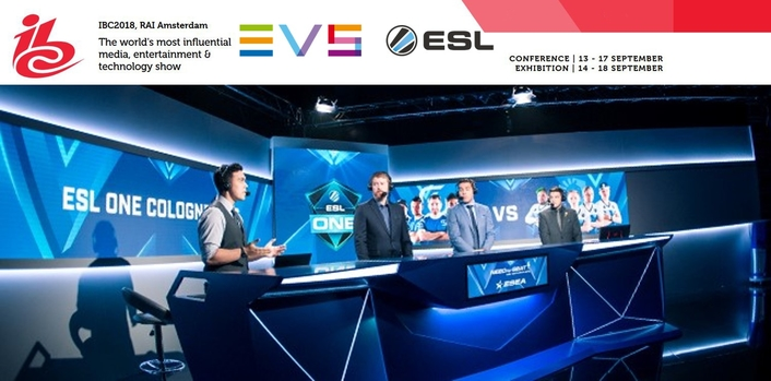 ESL AND EVS PARTNER TO PRESENT THE LATEST IN ESPORTS PRODUCTION WORKFLOWS AT IBC2018