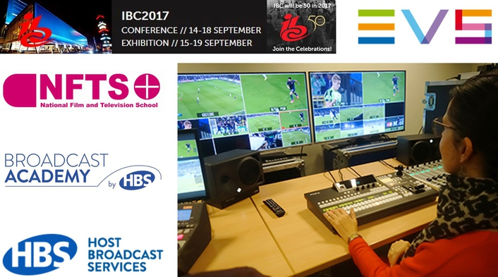 EVS and HBS to train tomorrow's live production stars at IBC2017