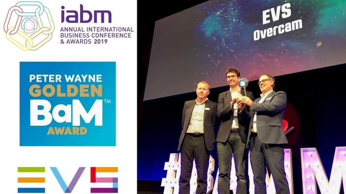 EVS' OVERCAM WINS IABM'S PETER WAYNE GOLDEN BAM AWARD