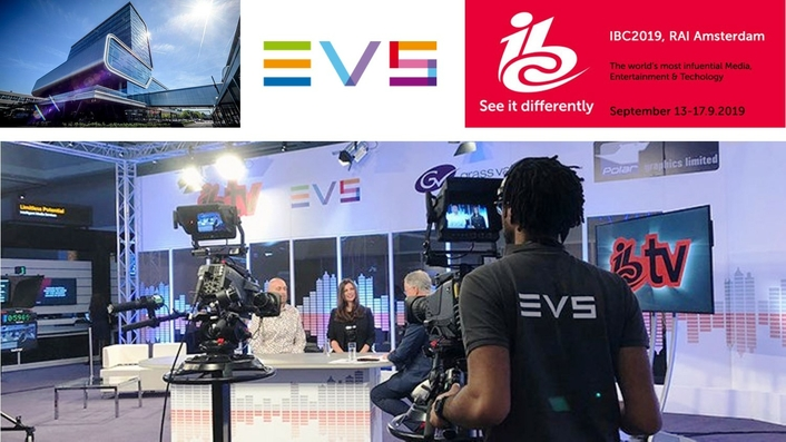 EVS DEPLOYS ADVANCED LIVE IP SOLUTIONS FOR IBC TV'S NEWS PRODUCTION ALONG WITH LEADING TECHNOLOGY PARTNERS AT IBC2019