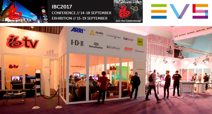 IBC TV switches to complete IP production driven by EVS technology