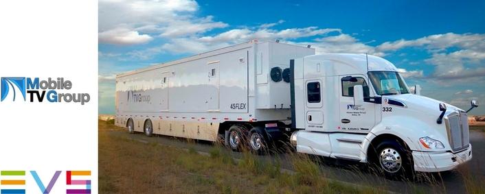 MOBILE TV GROUP'S NEW 45 FLEX IP MOBILE UNIT BUILT WITH LATEST EVS VIA LIVE PRODUCTION TECHNOLOGY