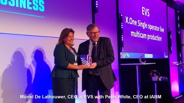 EVS' X-ONE Wins IABM's Prestigious Peter Wayne Award