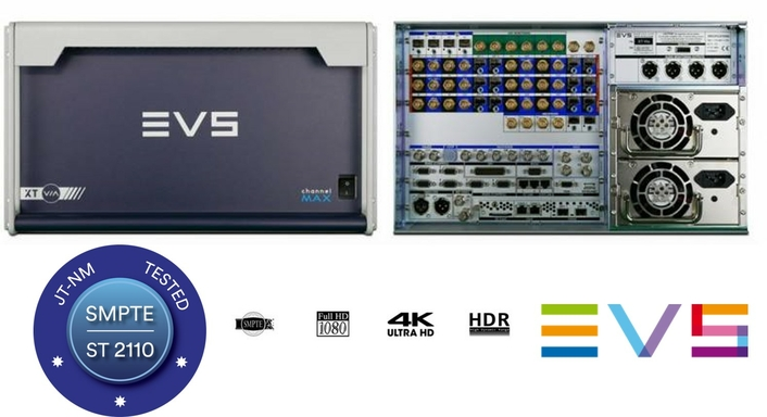 EVS DELIVERS THE FIRST LIVE PRODUCTION SERVERS TO PASS JT-NM SMPTE ST 2110 TESTING
