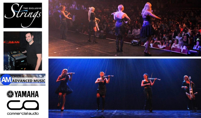 Performing all over Europe and the Middle East, Exclusive Strings is an all-female string quartet