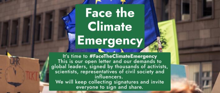 #FaceTheClimateEmergency