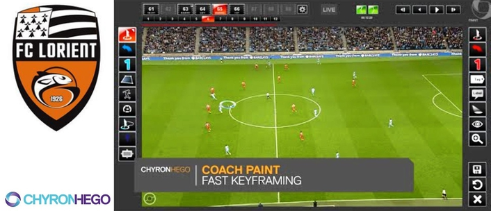 French Football Club Lorient Adopts ChyronHego Coach Paint for Both Coaching and Training Operations