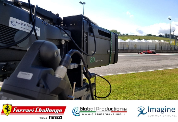 Global Production's IP Truck Wins Ferrari Colour Shoot-out at Monza