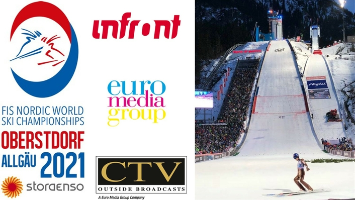 Broadcast set-up used by Infront Productions and Euro Media Group